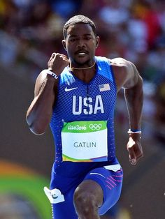 Justin Gatlin 2016 Rio Olympics: Men's 100m Justin Gatlin, Rio Olympics 2016, Track And Field, Olympians, 2016 Rio, 100m, Athletics, Jr, Women