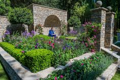 BBC presenter Adam Frost in The Claims Guys: A Very English Garden, Sponsor: The Claims Guys, Designer: Janine Crimmins and Contractor: Andrew Loudon. This garden celebrates traditional craftsmanship and the pleasure of beauty, inspired by the Arts and Crafts Movement.