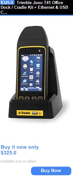 PDA Accessories: Trimble Juno T41 Office Dock / Cradle Kit + Ethernet And Usb Connections BUY IT NOW ONLY: $325.0 Security Surveillance, Docking Station, Slate, Apple Watch, Connection, Usb, Digital, Stuff To Buy, Accessories