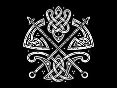 Celtic Axes designed by Sergey Arzamastsev. Connect with them on Dribbble; the global community for designers and creative professionals. Axe Tattoo, Norse Tattoo, Celtic Tattoos, Viking Tattoos, Tattoo Eagle, Armor Tattoo, Warrior Tattoos, Wiccan Tattoos, Inca Tattoo