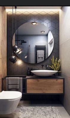Washroom Design, Toilet Design, Bathroom Design Luxury, Modern Bathroom Design, Home Room Design, Home Interior Design, Interior Modern, Bathroom Design Inspiration, Interior Inspiration
