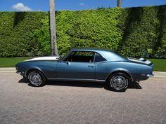 1968 Chevrolet Camaro (RARE FACTORY TEAL BLUE. WHITE Z28 STRIPED/BLACK HOUNDSTOOTH)