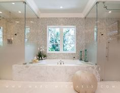 Ombre Shower Glass