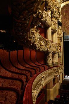 Opera Garnier, Paris (aka Home of the Phantom) Monuments, Charles Garnier, Folies Bergeres, Paris Opera House, The Great Comet, Palaces, Architecture Details, Interior Architecture, Classic Architecture