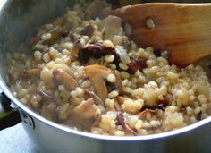 Mushroom+Barley+Risotto Day 145: Roast Chicken with Lemon and Garlic, Mushroom Barley Risotto and Honey Balsamic Glazed Roasted Beets and Ca...