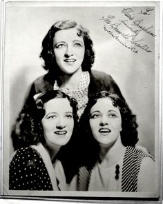 In this article it shows that the Boswell Sisters were a close harmony singing group. The Sisters were known for their complex harmonies and they experimented with different rhythms. They hit their peak of fame in New Orleans, singing Jazz Music when they were only teenagers. Along with singing in theaters and in bars, the girls music also appeared in the classic films of that time.