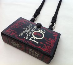 Complete Tales of Edgar Allan Poe Recycled Book Purse - The Raven Book Purse by NovelCreations on Etsy Edgar Allan Poe, Casual Cosplay, Hand Bone, Book Purse, Book Clutch, Leather Bound Books, Book Corners, Etsy, Louis Vuitton Monogram