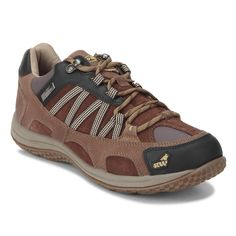 Find all-day comfort in uncomfortable places with the same great fit you expect from Red Chief in these Tan hiking shoes from their RockWolf collection. This hiking shoe provides better breathability with a dynamic fit, arch support and crossover style. While the bellow's tongue keeps the dust and debris at bay; the temperature regulation and anti-bacterial socks provides extreme comfort. Update your outdoor look by adding these hiking shoes to your wardrobe.