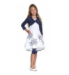 b26d4603801355 Gymp mouwloze jurk met bloemendessin - feestkleding - communie kleding -  NummerZestien.eu