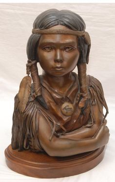 Native American gril carving