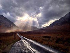 Etive light show. Scotland
