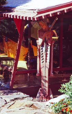 Fan photo of a Sprite statue at Taliesin West Gaudi, Organic Architecture, Architecture Design, Architecture Organique, Frank Lloyd Wright Style, Palmer House, South By Southwest, Usonian, Scottsdale Arizona