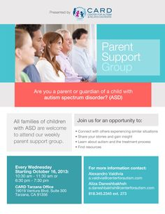 New Parent to Parent group offered by CARD at our headquarters in Tarzana, CA! RSVP today!