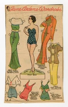78.2369: Jane Arden's Wardrobe | paper doll | Paper Dolls | Dolls | Online Collections | The Strong