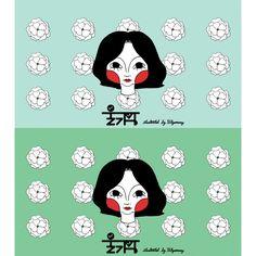 배경에 나름 꽃그림 #그림 #일러스트 #울가망 #illust #illustration #ulgamang