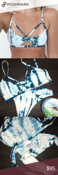 Blue life bikini top Brand new without tag Blue Life bikini top. Absolutely never worn. This listing does not include the bottoms, however they can be upon request at a bundle deal. Sold out online. As seen on Aspyn Ovard and all over Pinterest. Super trendy and totally adorable ✨ Blue Life Swim Bikinis