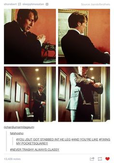 NEVER TRASHY ALWAYS CLASSY. That's my boy! Hannibal. Mads Mikkelsen.