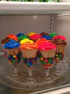 Cupcakes Glaseado Colores y M&Ms