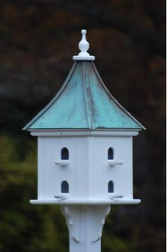 """Martin Birdhouse features eight compartments with perches. Made of cellular expanded PVC board, (just like vinyl siding on real houses) this 14"""" diameter square birdhouse is guaranteed to last a lifet"""