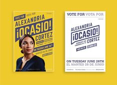 Ocasio-Cortez scored a victory — for well-designed campaign posters - The Washington Post Campaign Signs, Campaign Posters, Campaign Logo, Campaign Ideas, Political Logos, Political Campaign, Political Events, Cortez, Design Campaign