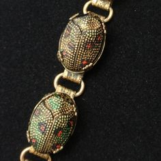 Egyptian Revival Scarab Necklace Details