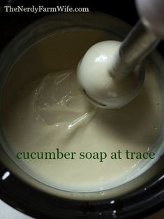 This cold process cucumber soap is a palm-free alternative to my original Cucumber Borage Soap. When creating this recipe, I started with my standard base of skin loving olive oil, plus a generous amount of coconut Antiseptic Soap, Creamy Cucumbers, Homemade Soap Recipes, Home Made Soap, Handmade Soaps, Soap Making, The Balm, Herbalism, Cold