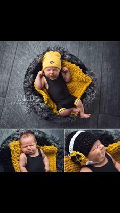 Newborn wrestling wrestler Iowa Hawkeyes singlet photography #wildphotography   Www.facebook.com/wildphotographybytori  Adorable singlet by Mildred Rose (facebook)