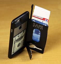 SAFE Wallet Shown Fully Loaded with MagicStand In Portrait