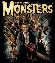 Bruce cambell game of bones Horror Posters, Horror Films, Horror Art, Movie Posters, Evil Dead Movies, Scary Movies, Bruce Campbell Evil Dead, Scream, Ash Evil Dead