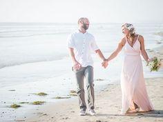 Wedding photos on the beach. Randy + Ashley, Palm Springs and Southern CA Wedding Photographers.