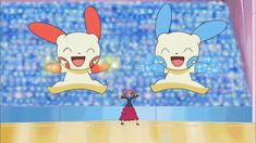 Plusle and Minun. I remember this episode in Diamond and Pearl