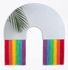 Rainbow spiegel L Nice Designs, Rainbow, Mirror, Home Decor, Rain Bow, Rainbows, Decoration Home, Beautiful Drawings, Room Decor