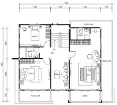 House design plan with 4 bedrooms. Style modernHouse description:Number of floors 2 storey housebedroom 3 roomstoilet 3 roomsmaid's room 1 4 Bedroom House Designs, 4 Bedroom House Plans, Bungalow House Design, Dream House Plans, Philippines House Design, Hotel Floor Plan, Philippine Houses, House Plans With Photos, Maids Room