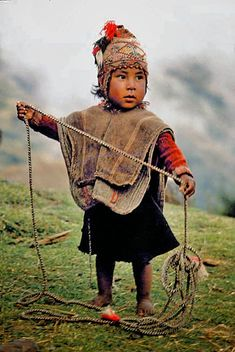 Fascinating Humanity: Peru: Little Q'ero Boy Of The Andes Mountains