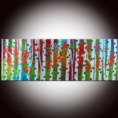 GORGEOUS! abstract textured forest painting from FlowerArtPainting on Etsy