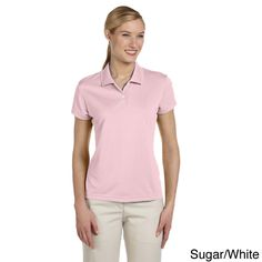 Adidas Women's ClimaLite Short Sleeve Pique Polo Shirt
