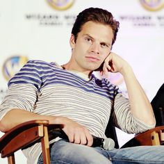 Sebastian Stan in Wizard World's Chicago Comic Con on August 24th, 2014