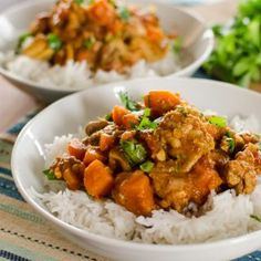 Slimming Eats Chicken, Sweet Potato and Lentil Curry - gluten free, dairy free, Slimming World and Weight Watchers friendly Slow Cooker Recipes, Cooking Recipes, Healthy Recipes, Cheap Recipes, Batch Cooking, Hacks Cocina, Sweet Potato Lentil Curry, Chicken Sweet Potato Curry, Slimming Eats