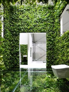 Best Ideas For Modern House Design & Architecture : – Picture : – Description ♂ Sustainable design green living wall vertical garden House Vision Exhibition by Kenya Hara, Tokyo Green Architecture, Sustainable Architecture, Sustainable Design, Architecture Design, Building Architecture, Patio Interior, Home Interior, Interior And Exterior, Bathroom Interior
