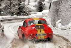 DO YOU LIKE VINTAGE? : How about an older Porsche 356 and a snowy mountain road?