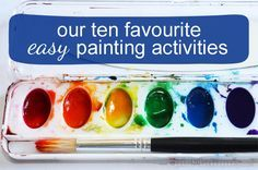 Our Ten Favourite Easy Art Activities - from picklebums.com