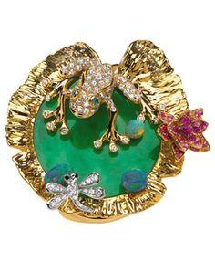 Victoire de Castellane pour Dior Joaillerie : grenouille enchantée