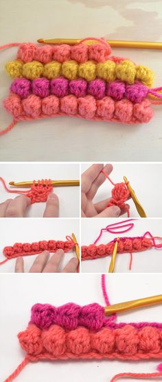 Lean The Crochet Bobble Stitch Pattern   CrochetBeja