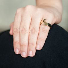 Gold Ribbon Ring | Pony Lane
