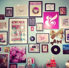 & Kate Spade Gallery Wall | Preppy girl Gallery wall and Walls