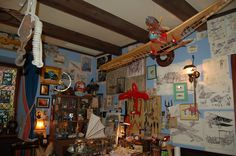 Ghibli museum…The RED Flying boat which Porco Rosso rides in Mar Adriatico??