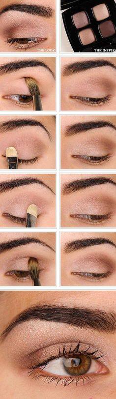 16 Easy Step-by-Step Eyeshadow Tutorials for Beginners: #15. Easy Everyday Natural Makeup Tutorial