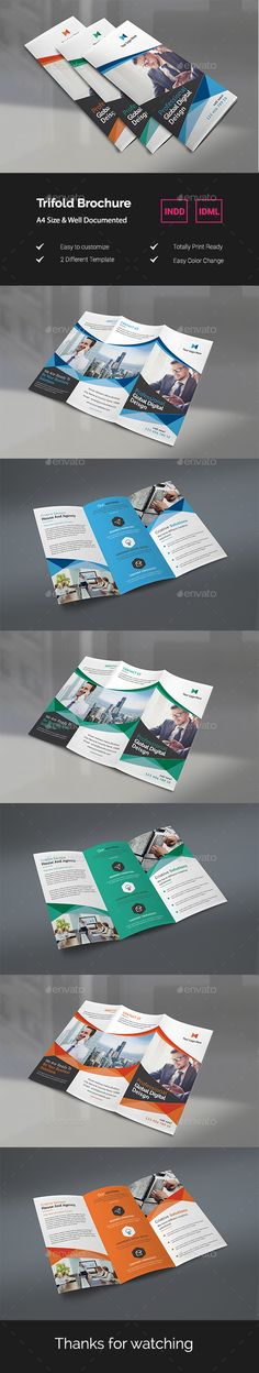 Buy Trifold Brochure by Rongbaaz on GraphicRiver. Modern creative trifold brochure, Can use for any personal or corporate, Very easily to edit, Very easy to adapt and . Travel Brochure Template, Brochure Design, Graphic Design Projects, Freelance Graphic Design, Layout Design, Print Design, Catalog Design, Type Setting, Business Design