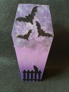 Purple Bat Coffin Trinket box by RedVixenAcc on Etsy, $9.00