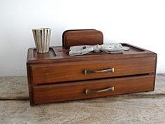 Vintage Wood Organizer - Vintage Jewelry Box, Father's Day, Men. $38.00, via Etsy.#eveteam